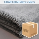 Charcoal Grey Knitted Microfibre Cloth