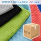 waffle microfibre cloth 50 pack